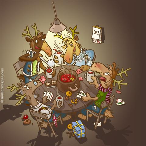 Weihnachtskarten Comic.Weihnachtskarten Illustration Characterdesign Storyboard Und