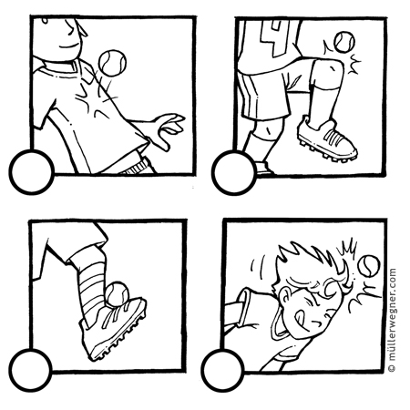 Fussball Illustration Characterdesign Storyboard Und