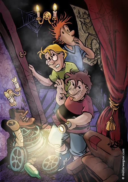 die drei  kids  illustration characterdesign